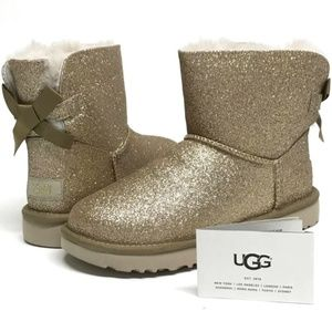 UGG Mini Bailey BOW SPARKLE Boots MANY SIZES! NIB